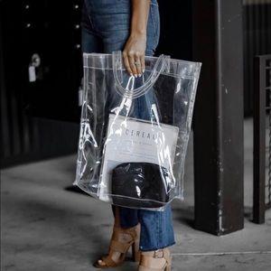 Mango clear tote bag